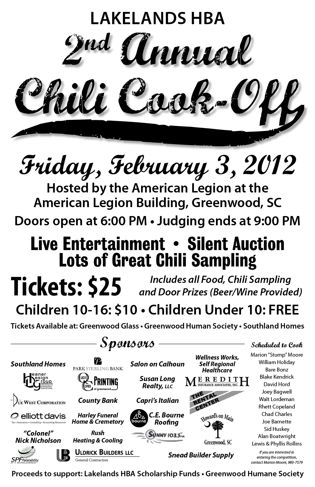 Lakelands HBA Second Annual Chili Cook-off – The Humane Society of