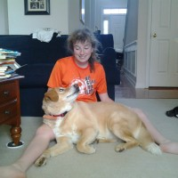 Ashley McGovern and Biscuit