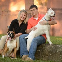 Brittany and Kenny Price with Buddy and Nahla