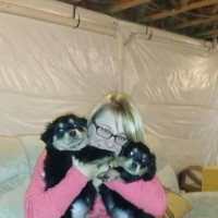 Kristin Evans and Foster Pups