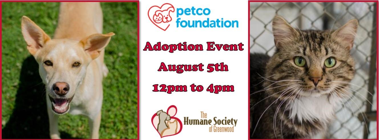 Petco Adoption Event Saturday, August 5th 12p to 4p – The